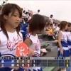 チアリーダー高校野球地方大会、甲子園。可愛いチアガール。