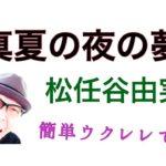真夏の夜の夢・松任谷由実【ウクレレ 超かんたん版 コード&レッスン付】GAZZLELE